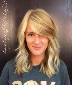 Multidimensional blonde with beach waves by Lucy Lopez at SalonLoft 25  Cleveland Ohio 2016