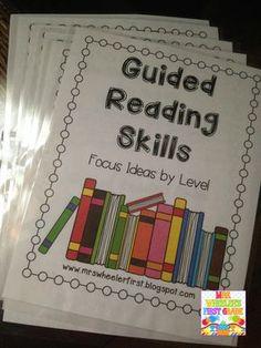 Mrs. Wheeler's First Grade Tidbits: Starting Guided Reading