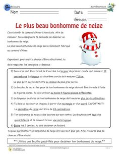 le plus beau bonhomme de neige cycle resoudre subjects French Worksheets, Montessori Math, French Classroom, French Immersion, Cycle, Science Education, Learn French, Problem Solving, Homeschool