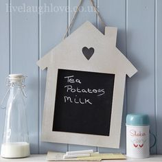 Heart House Wooden Chalkboard