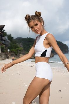 Makara wear sustainable minimal swimwear and active wear brand Bikini Bottoms, Bikini Tops, Sporty Bikini, Swimsuits, Bikinis, Designer Swimwear, Wakeboarding, Long Sleeve Tops, Surfing