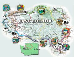 Highlights and best stops along the beautiful Cascade Loop drive - will be doing this in spring!