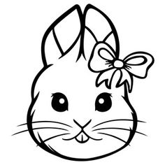Silhouette Design Store: girly easter bunny
