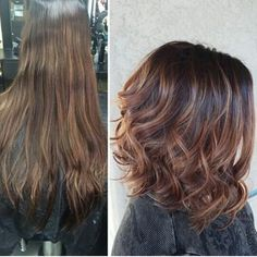 Before and after hair I want this color!