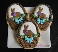 Sugar Cravings - Chocolate bunnies in basket