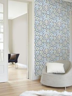 Embrace the Moroccan detailed patterns and bright colours - ideal for creating a stunning feature wall