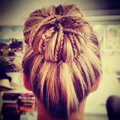 Braided Sock Bun Updo Hair ♥ for tutorial http://www.youtube.com/watch?