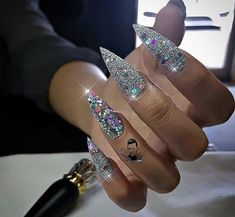 nails, glam, and glitter image