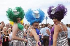 Plan Now to Party in August at Brighton & Hove Summer Pride: Brighton & Hove Pride Parade participants.