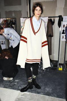 Raf Simons Fall 16 Men Fashion Show Paris Backstage