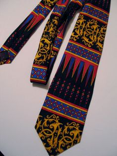 Rush Limbaugh No Boundaries Silk Tie Modernist Abstract Geometric Loose Chain #RushLimbaugh #Tie