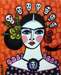 Frida Kahlo Sugar Skulls