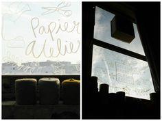 Raamtekeningen van Karen Weening in het PapierAtelier gezien op het blog van Elv's blogspot.nl  #papieratelier #flavlive