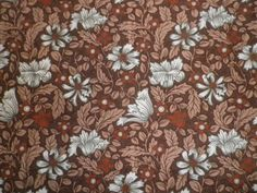 Vintage Cotton Interiors Fabric 'Honeysuckle' ICI  Vymura William Morris Style in Collectables, Sewing/ Fabric/ Textiles, Fabric/ Textiles, Vintage/ Retro (Pre-1980) | eBay