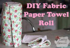 Easy Homesteading: Fabric Paper Towel Roll DIY Tutorial