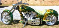 Emerging Flames | Custom Motorcycle Paint | Totally Rad Choppers