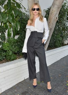 Rosie Huntington-Whitely in Monse at the CFDA/Vogue Fashion Fund Show. Photo: Getty Images for CFDA/Vogue.