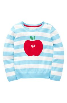 Mini Boden 'Stripy' Sweater-I want to try and make one like this;so cute