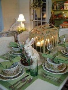 Garden Green Tablescape by christa
