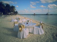 Isla Mujeres Palace, candlelight beach dinner. https://www.facebook.com/BlissfulMoons