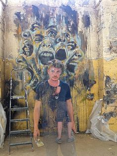 Artist Antoine Stevens, Brest 2013....stop injustice