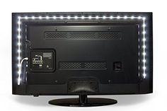 Luminoodle Bias Lighting for HDTV – USB LED Backlight Bright Normal White Strip for Flat Screen TV LCD, Desktop Monitors #deals
