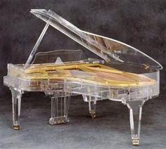 Handcrafted transparent Grand Piano http://pinterest.com/cameronpiano