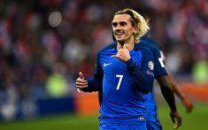 Indir duvar kağıdı Antoine Griezmann, 4k, futbolcular, FFF, futbol, Griezmann, Fransız Milli Takım