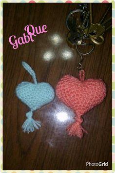 Crochet. Llaveritos en forma de.corazón!!