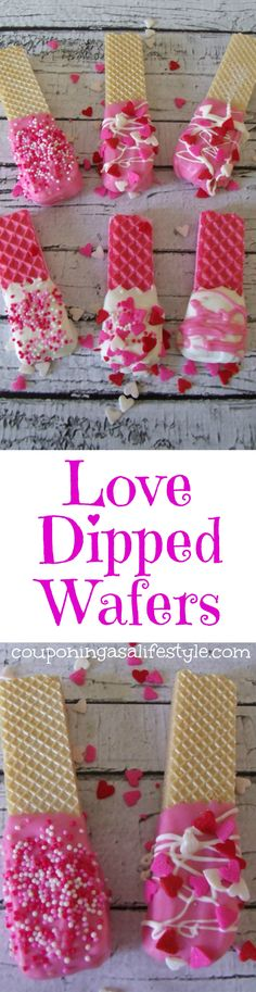 Love Dipped Wafers is a no-bake Valentine's Day dessert that is loaded with sweetness. There are so many ways to tell the ones you love, I LOVE YOU! Valentines Day Food, Valentine Treats, Valentine Day Crafts, Holiday Treats, Holiday Fun, Party Treats, Bake Sale, Candy Buffet, Sweet 16