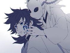 """ともはる on Twitter: """"親友ブーストでパワーアップ…だったらいいな。… """" Anime Ships, Anime Demon, Kawaii Cute, Illustration, Anime Monochrome, Slayer Anime, Demon, Fan Art, Manga"""