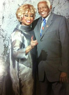Celia Cruz with her husband Pedro Knight, her life partner.