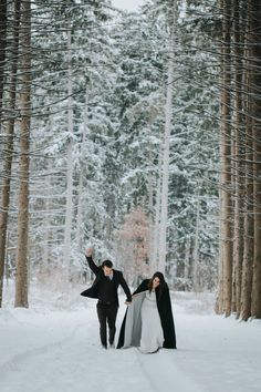 Narnia Winter Elopement - Cape gown- Wedding Washington