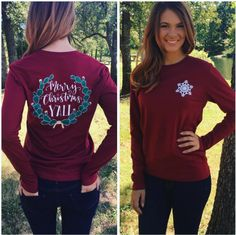 Long Sleeve Cactus Christmas shirt