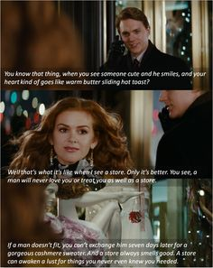 You know that thing, when you see someone cute and he smiles? ~ Confessions of a Shopaholic (2009) ~ Movie Quotes