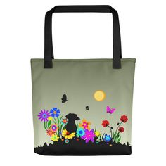Dachshund Blossom - Color Tote Bag