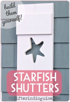 DIY Starfish Shutters