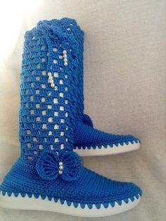 Crochet Boots, Tejidos, Booties Crochet