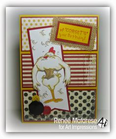 Bird Brains Line At Art Impressions Corset Birdie And The Verse Of Birthday Card