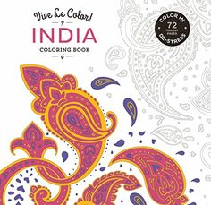 India Adult Coloring Book Color In De Stress Tear Out Pages