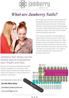 What is Jamberry Nails?   Ask me by following me at facebook.com/jennjams2014