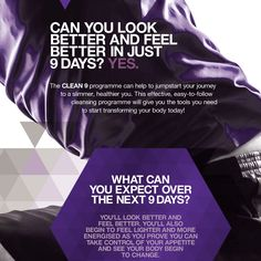 Can you look better and feel better in just 9 Days? Yes. Designed to kick-start the programme and cleanse your body, the C9 provides the perfect starting point for transforming your diet and fitness habits. Have you started your F.I.T. journey?