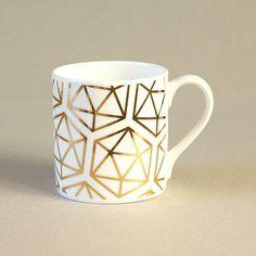 featured on tizzymaison.com http://www.tizzymaison.com/post/160091854404/tizzymaison-geometric-icos-fine-bone-china-mug