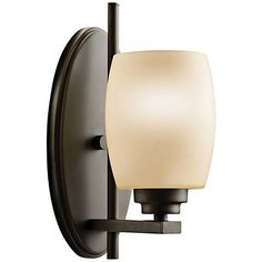 """Eileen Olde Bronze 10 3/4"""" High Umber Glass Wall Sconce - #44247 