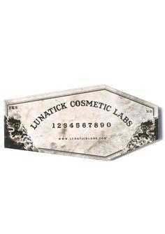Lunatick Cosmetic Labs custom palette (Omen, Invocation, Reincarnation, Ghoulight, Elemental)