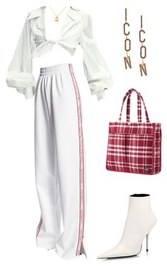 A fashion look from February 2018 featuring jersey pants, white heel boots and red tote. Browse and shop related looks. Kpop Fashion Outfits, Stage Outfits, Edgy Outfits, Retro Outfits, Classy Outfits, Girl Outfits, Cute Outfits, Mode Kpop, Looks Chic