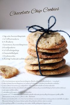 cookies Dessert Recipes, Desserts, Chocolate Chip Cookies, Allrecipes, Biscuits, Bakery, Yummy Food, Sweets, Breakfast