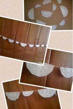 Vintage party paper doily bunting