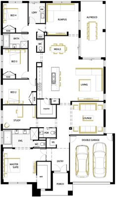 Amberwood floor plan floor plans pinterest the plan - How much would a 5 bedroom house cost ...
