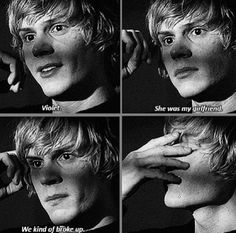 Tate. And he starts to cry when he talks about Violet! Oh my god, nobody can convince me they aren't perfect together.